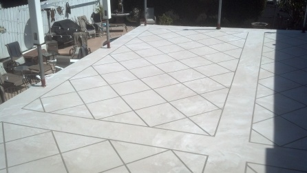 Tile pattern ready to stain.