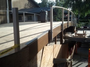 "Bridge sheeted with new 3/4"" plywood."