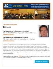 Get my speakers discount when you register for the conference.