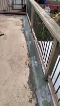 New concrete coating bonds well to the existing.